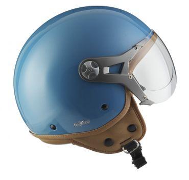SOXON SP-325 glossy blue Jethelm Jet Vespa Retro Roller Helm Sport Motorradhelm XS S M L XL – Bild 5