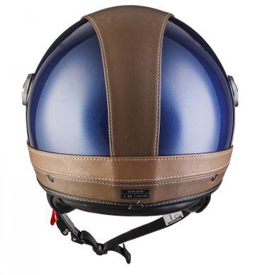 SOXON SP-325 Urban blue Jethelm LEDER Vespa Jet Roller Helm Motorradhelm XS S M L XL – Bild 7
