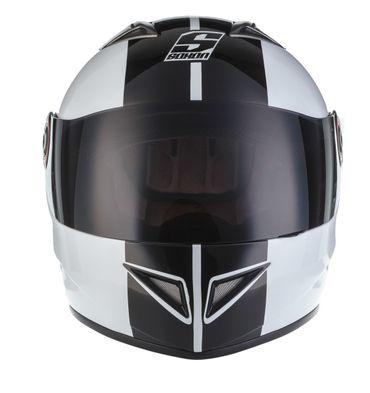 SOXON ST-666 Deluxe White Black Integralhelm Helm Motorradhelm XS S M L XL – Bild 3