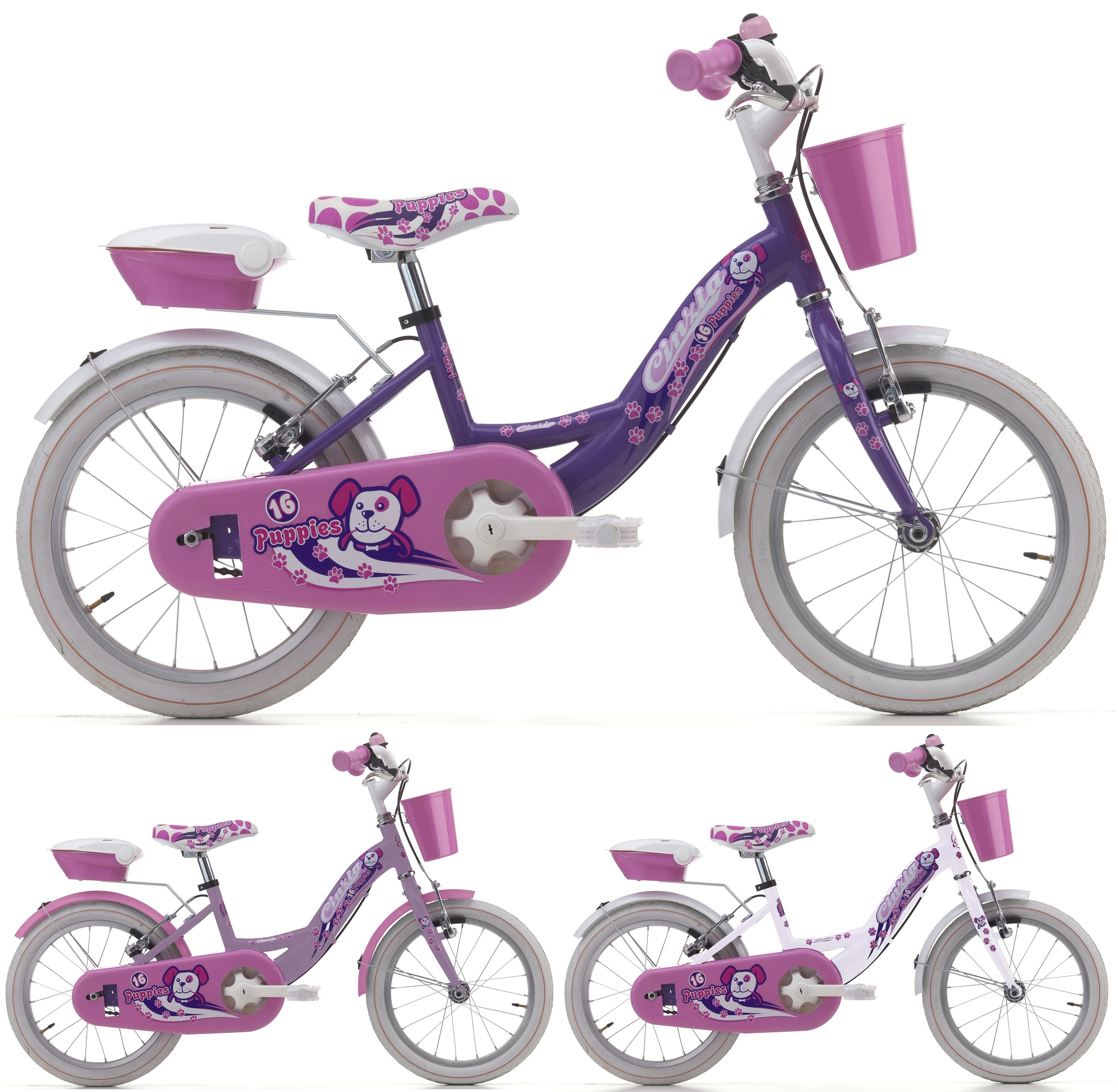 16 zoll cinzia puppies girl m dchen fahrrad fahrr der kinderr der kinderr der 16 zoll. Black Bedroom Furniture Sets. Home Design Ideas