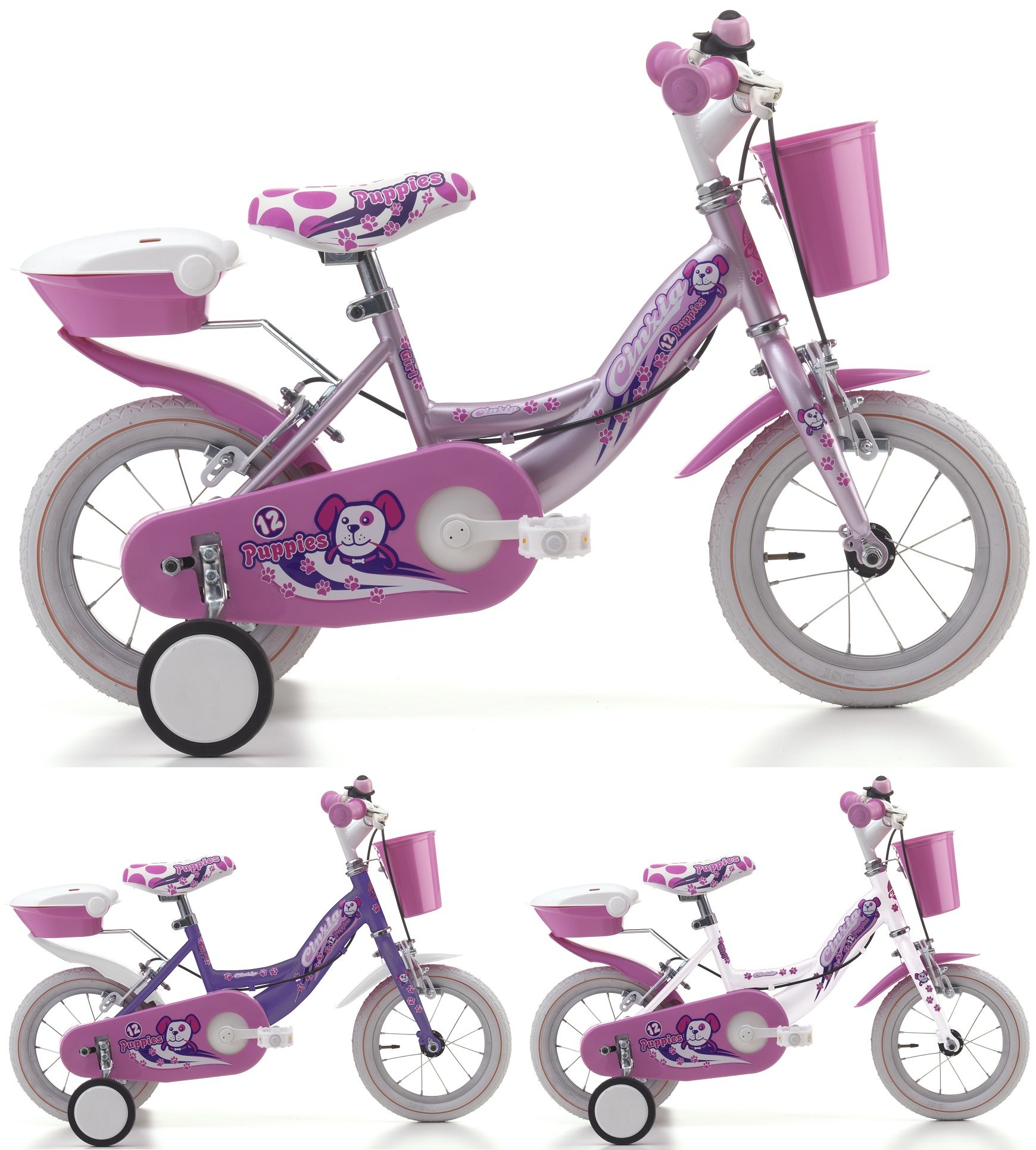12 zoll m dchen fahrrad cinzia puppies fahrr der. Black Bedroom Furniture Sets. Home Design Ideas