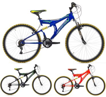 24 Zoll Cinzia Arrow Fully Jungen Mountainbike 18 Gang