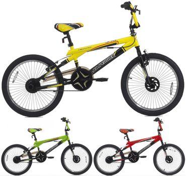 20 BMX Cinzia Jetix Velo Freestyle Velo Enfant Rotor 360° Rouge Vert Jaune