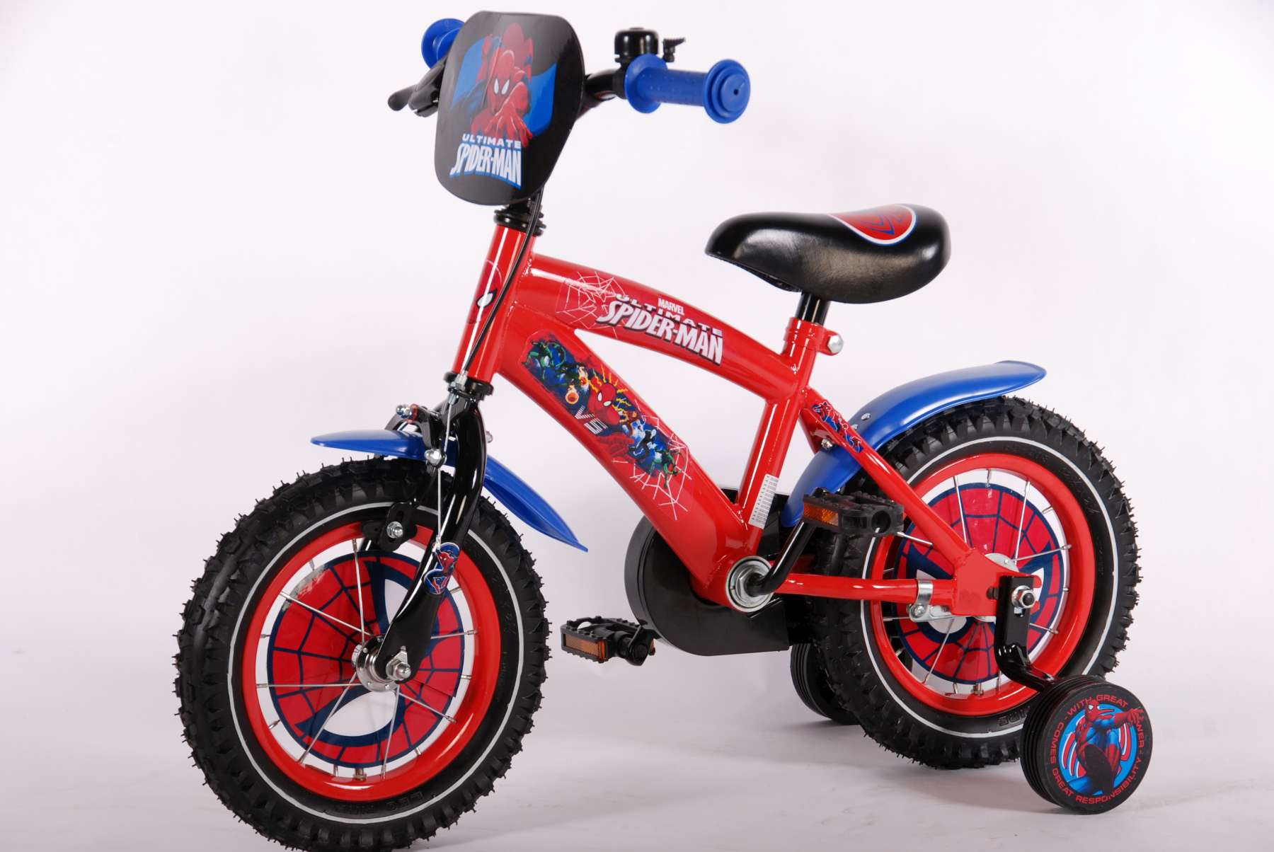 12 zoll kinderfahrrad volare ultimate spider man fahrr der. Black Bedroom Furniture Sets. Home Design Ideas