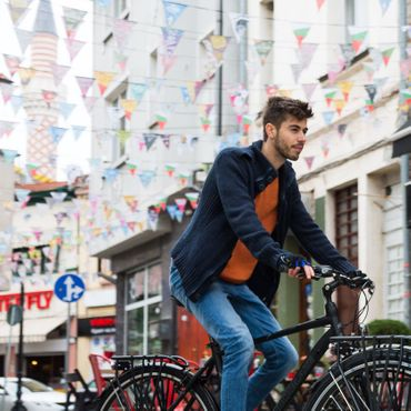 28 Zoll Herren Trekking Fahrrad 8 Gang Shockblaze Venue – Bild 4