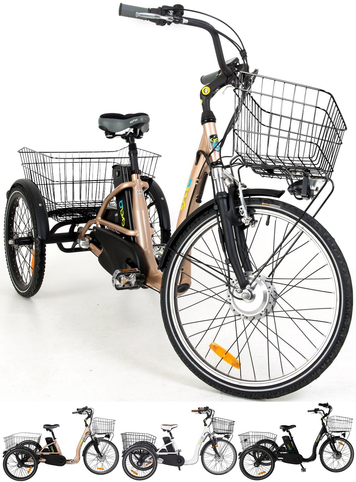 24 zoll elektro dreirad 3 gang cyclo2 comfort24 fahrr der. Black Bedroom Furniture Sets. Home Design Ideas