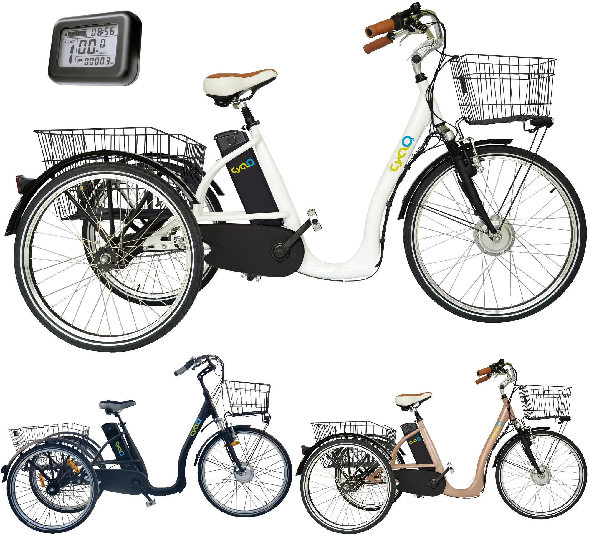 26 zoll elektro dreirad f r erwachsene 3 gang cyclo2 comfort26 senioren e bike ebay. Black Bedroom Furniture Sets. Home Design Ideas
