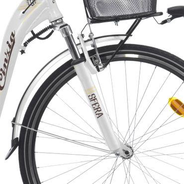 28 Zoll Damen Elektro City Fahrrad 7 Gang Cinzia Sfera – Bild 8