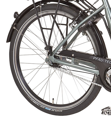 26 Zoll PFAU-TEC S3 grau Damen Elektro City Fahrrad mit tiefem Einstieg 3 Gang – Bild 4
