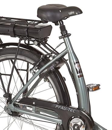26 Zoll PFAU-TEC S3 grau Damen Elektro City Fahrrad mit tiefem Einstieg 3 Gang – Bild 3
