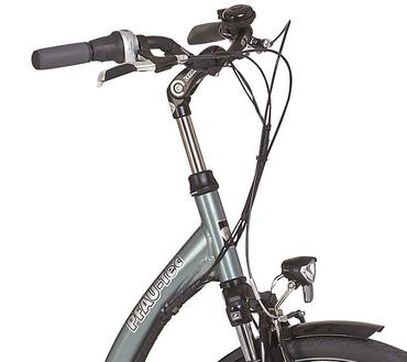 26 Zoll PFAU-TEC S3 grau Damen Elektro City Fahrrad mit tiefem Einstieg 7 Gang – Bild 5