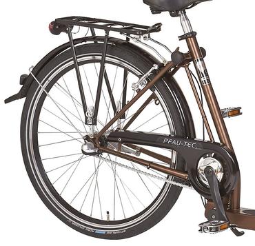 26 Zoll PFAU-TEC P1 braun Damen City Fahrrad mit extrem tiefem Einstieg 7 Gang – Bild 2