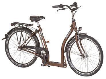 26 Zoll PFAU-TEC P1 braun Damen City Fahrrad mit extrem tiefem Einstieg 7 Gang – Bild 1