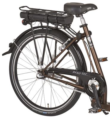 26 Zoll PFAU-TEC P3 braun Damen Elektro City Fahrrad extrem tiefer Einstieg 7 Gang – Bild 2