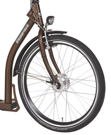 26 Zoll PFAU-TEC P3 braun Damen Elektro City Fahrrad extrem tiefer Einstieg 7 Gang – Bild 6