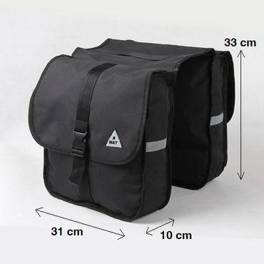 Doppel Gepäckträger Fahrrad Tasche Fahrradtasche Gepäcktasche – Bild 5