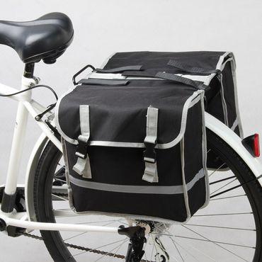 Doppel Gepäckträger Fahrrad Tasche Fahrradtasche Gepäcktasche – Bild 2