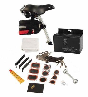 Satteltasche mit Reparatur-Set Fahrrad Fahrradtasche erweiterbar