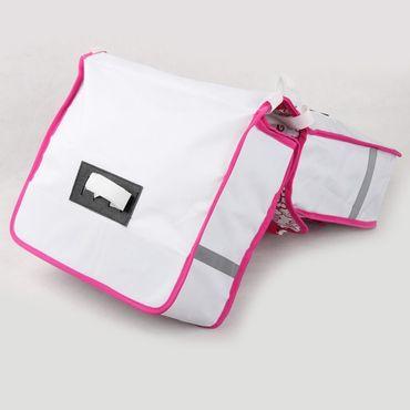 Doppel Gepäckträger Tasche Fahrradtasche Blume – Bild 4