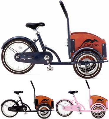 16 Zoll Kinder Lastenrad Cangoo Bakfiets Mini ohne Schaltung – Bild 1