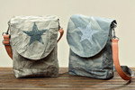 Boltze Tasche 'Canea', H 38cm, Farbmix, beige meliert/grauer Stern