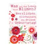 Grätz Verlag, Doppelkarte Geburtstag  Was ist das Leben...?