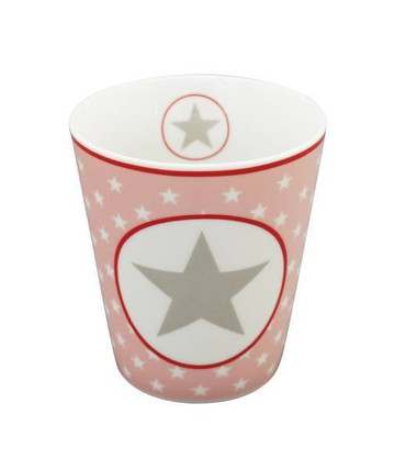 Krasilnikoff Happy Mug, pink/big star