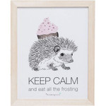 Bloomingville Bild mit Igel 'Keep calm...'