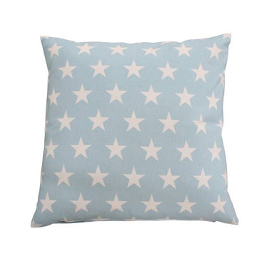 Krasilnikoff Kissenhülle hellblau mit weißen Sternen