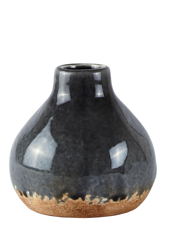 kj collection vase grau 11 5 cm wohnen vasen schalen. Black Bedroom Furniture Sets. Home Design Ideas