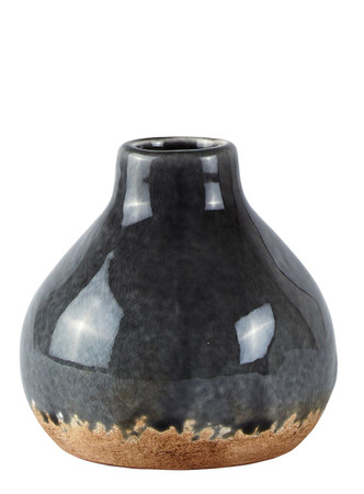 KJ Collection Vase, grau, 11,5 cm