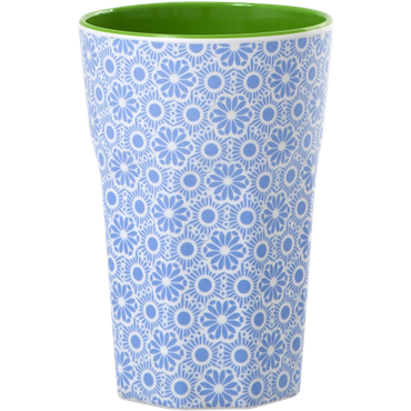 Rice Melamin Becher Two Tone Tall Cup, blau