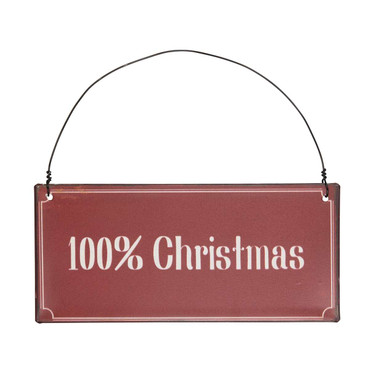 IB Laursen Metallschild  100% Christmas