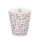 "Krasilnikoff Happy Mug ""White flower"""