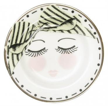 Miss Etoile Teebeutel Ablage,  Eyes and dots