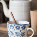 IB Laursen Casablanca Tasse, blau gemustert
