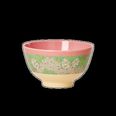 Rice Melamin Schale klein mit Schmetterling und Blumenmuster