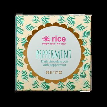 Rice Dark Chocolate Peppermint, 50g