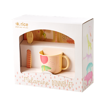 Rice Melamin-Geschenkbox Baby, rosa