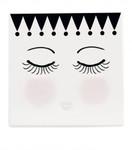 Miss Etoile Keramikuntersetzer mit Kork,  eyes and dots , 15x15 cm