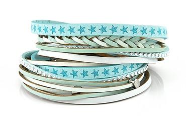 Lizas Armband hellblau, 38cm