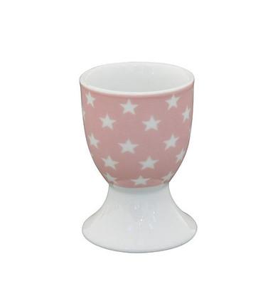 Krasilnikoff Eierbecher rosa mit Sternen