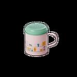 Rice Emaille Zuckerstreuer, rosa/pastell grün