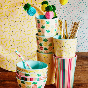 Rice Tall Melamin Cup, Pineapple Print