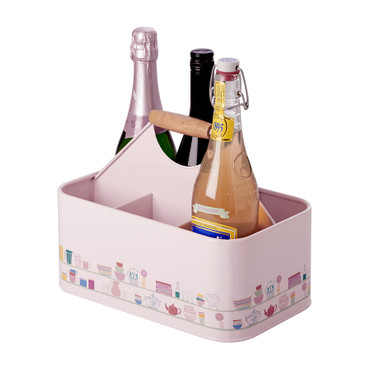 Rice Emaille Flaschenträger  Charlottes Cupboard , soft pink