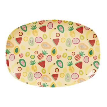 Rice Melamin Platte Tutti Frutti Print