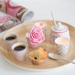 Krasilnikoff Happy Espresso Becher Star, rosa