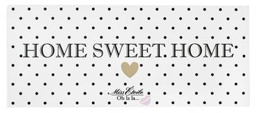 Miss Etoile Metallschild  Home sweet home