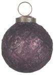 IB Laursen Weihnachtskugel karogemustert, aubergine