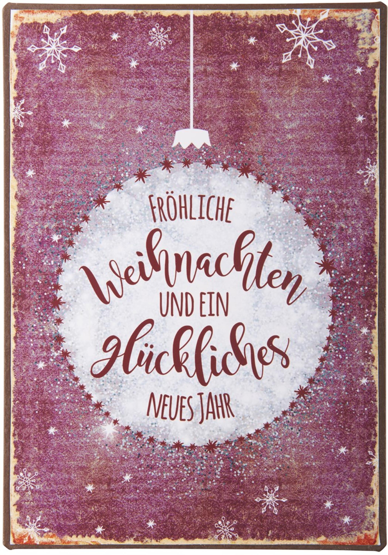 Bilder Weihnachten Neues Jahr.Ib Laursen Metallschild Fröhliche Weihnachten Und Ein Glückliches